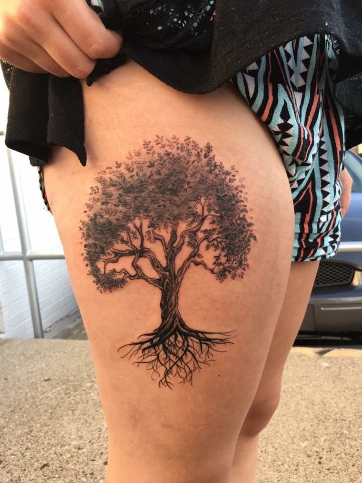 black and gray tree tattoo olive tree tattoo tattoo by