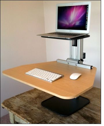 Adjustable Stand Up Desk >> DIY standing desk on Pinterest | Stand Up Desk, Standing Desks and Desks