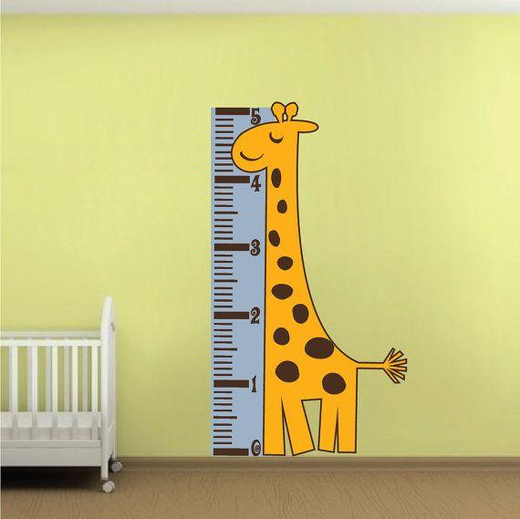 Giraffe Nursery Wall Mural Decal Giraffe Wall Art by PrimeDecal ...