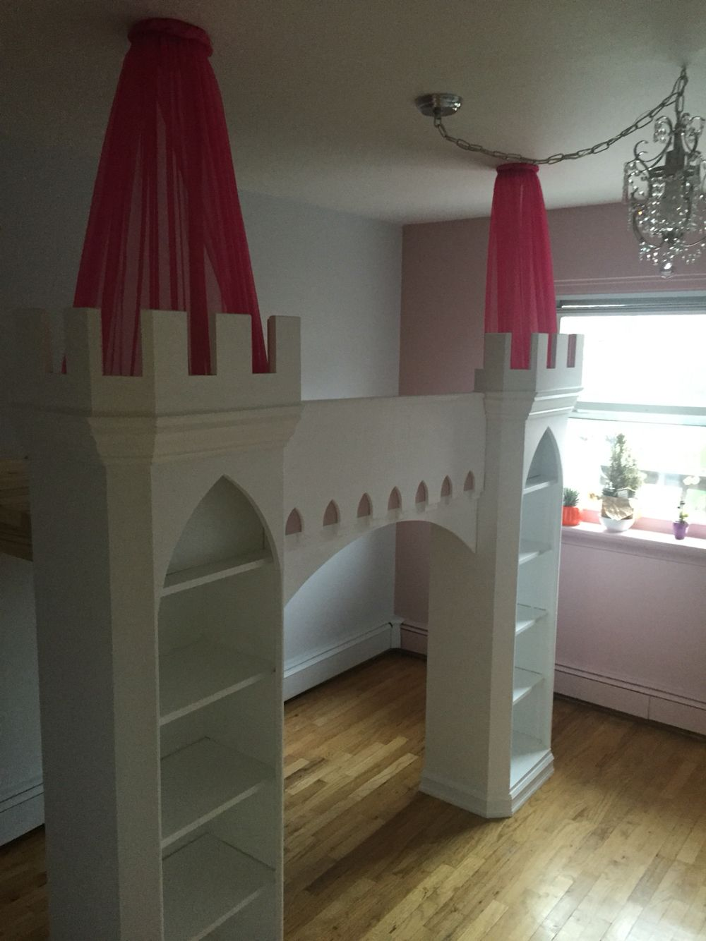 Castle loft bed. … Girl room, Little girl rooms, Loft room