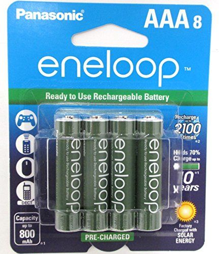8 Panasonic Eneloop Aaa Nimh Pre Charged Rechargeable Batteries With Battery Holder Quot Limited Rechargeable Batteries Charger Accessories Battery Disposal