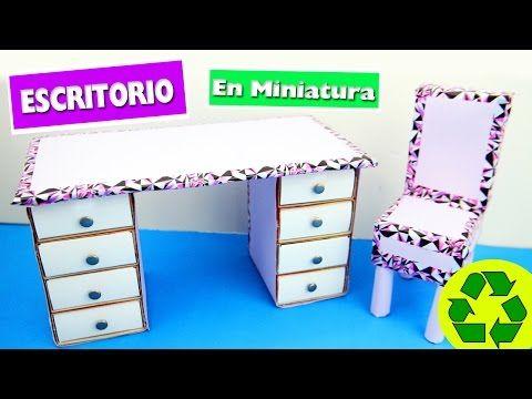 DIY | Escritorio con cajones - manualidades para muñecas ...