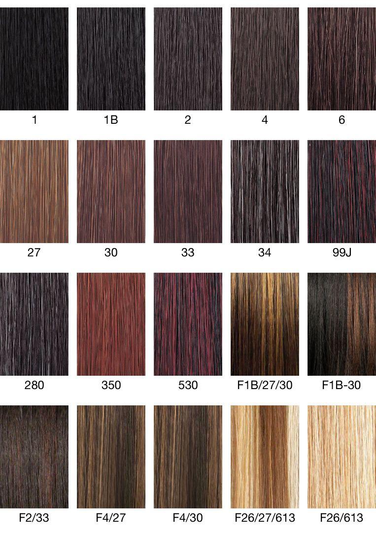 color chart 1930s hair & make