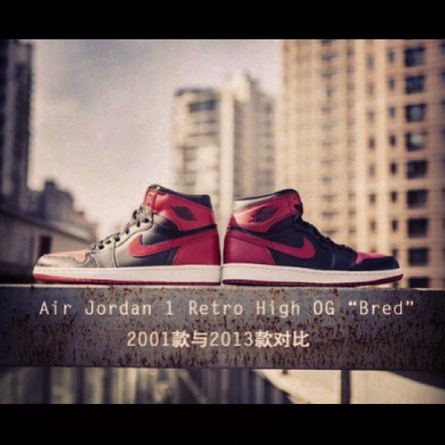 "96a14f62a912 Air Jordan 1 Retro ""Bred"" – 2001 vs. 2013 Comparison - Which would you  take  2001 or 2013     airjordans  nike  airjordanretro  kickscloset"
