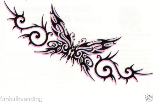 f98a20c20 TRIBAL-BUTTERFLY-BULLSEYE-LOWER-BACK-TEMPORARY-TATTOO-TRAMP-STAMP-SEXY-USA