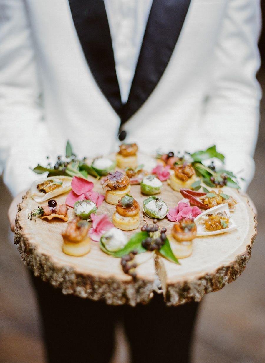 Cocktail Hour Barn Wedding Food Ideas
