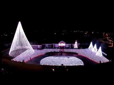 Patriotic Christmas Lights.Patriotic Military Tribute With Synchronized Christmas