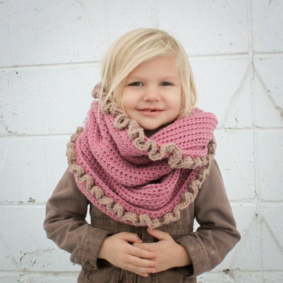 Instant Download - Crochet Pattern - Loopy/Hoody Cowl Scarf (Toddler ...