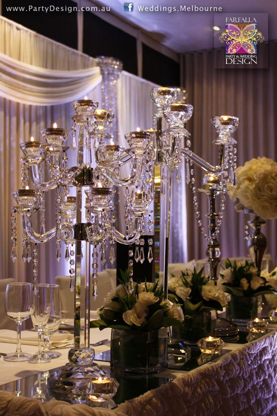 Crystal Candelabra Designer Centrepieces Table Centre Hire