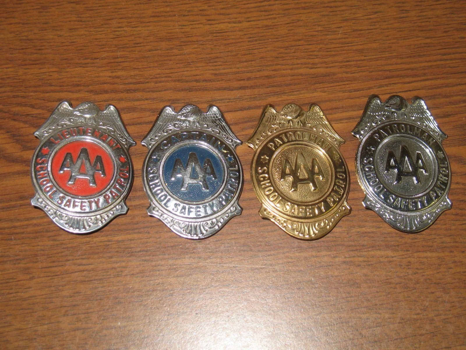 4 AAA School Safety Patrol Badges