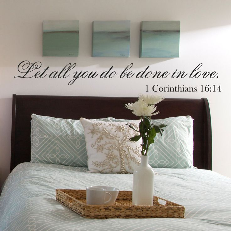 Bedroom Wall Sticker Designs Alluring Let All You Do Be Done In Love Bible Quote Wall Quote Vinyl Wall Inspiration