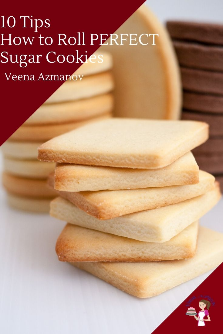 Cookies look best when they are cut perfectly but not all cookie dough is easy to manage. Some spread out with thin edges which can be a nightmare when decorating especially with royal icing. Some puff up and have some air pockets which can't be used for decorating. These 10 tips will help you roll perfect sugar cookies every single time. #10tips #sugarcookies #perfectsugarcookies #howtorollcookies #easysugarcookies