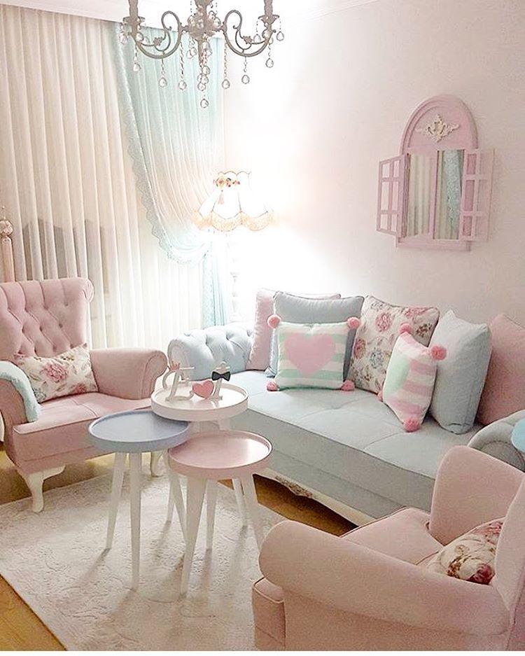 Desain Ruang Tamu Ruang Keluarga Shabby Chic Ide Ruang Keluarga