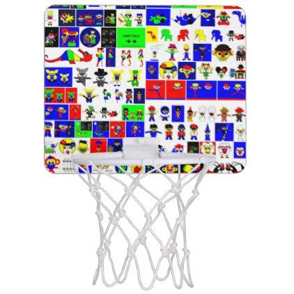 Collage of Asbjorn Lonvig artwork Mini Basketball Backboard - image gifts your image here cyo personalize