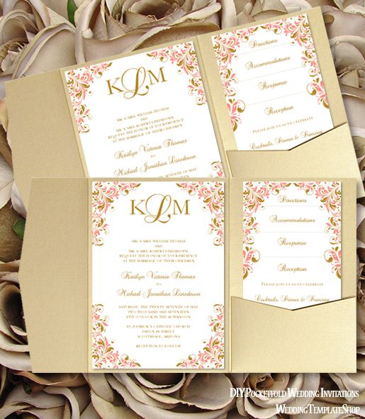 Invitation Template Word Glamorous Make Your Own Wedding Invitations Diy Word Templates You Edit .
