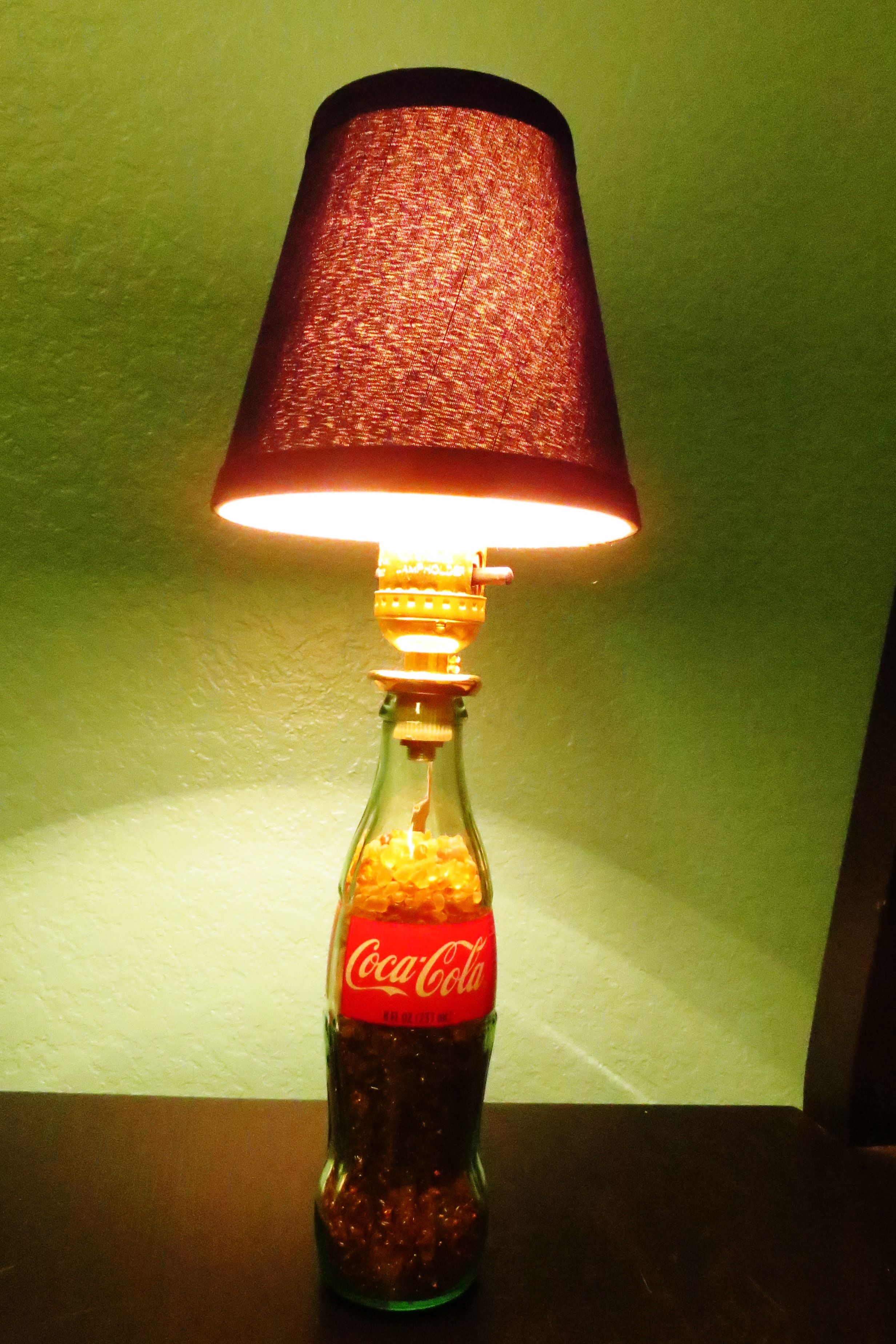 Glass Jar Lamp Shade Glass Bottle Coke Lamp I Bought A Lamp Kit At Lowes As Well As The
