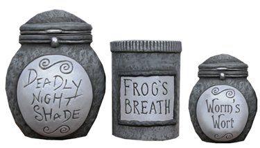 Neca Nightmare Before Christmas Ceramic Storage Jars Set Of 3 Nightmare Before Christmas Christmas Jars Before Christmas