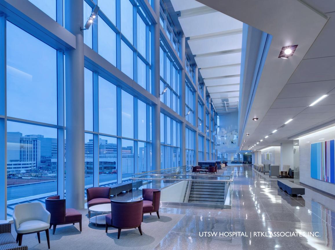 UTSW CLEMENTS UNIVERSITY HOSPITAL DallasTexas DESIGNER RTKL Associates Inc