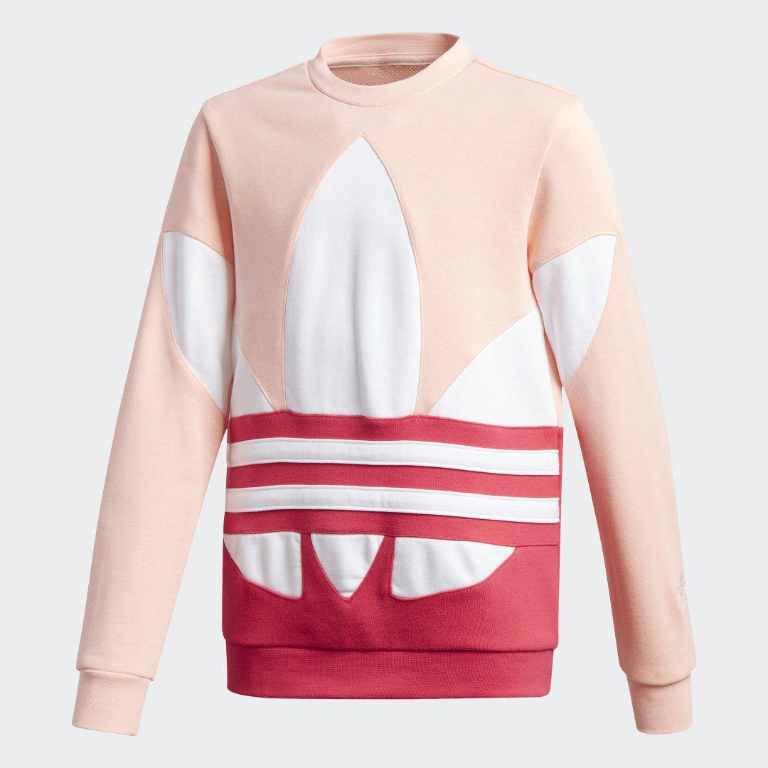 Adidas Large Trefoil Crew Sweatshirt Pink Adidas Us Pink Adidas Outfit Adidas Tracksuit Women Pink Adidas [ 1080 x 1080 Pixel ]