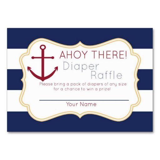 business card raffle sign