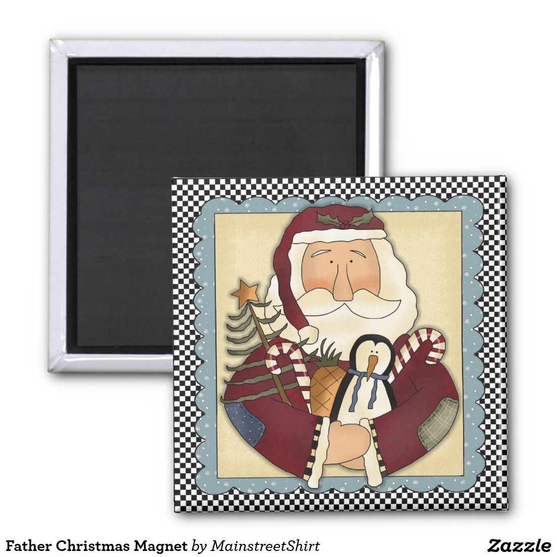 Father Christmas Holiday Magnet | Newlywed christmas ...