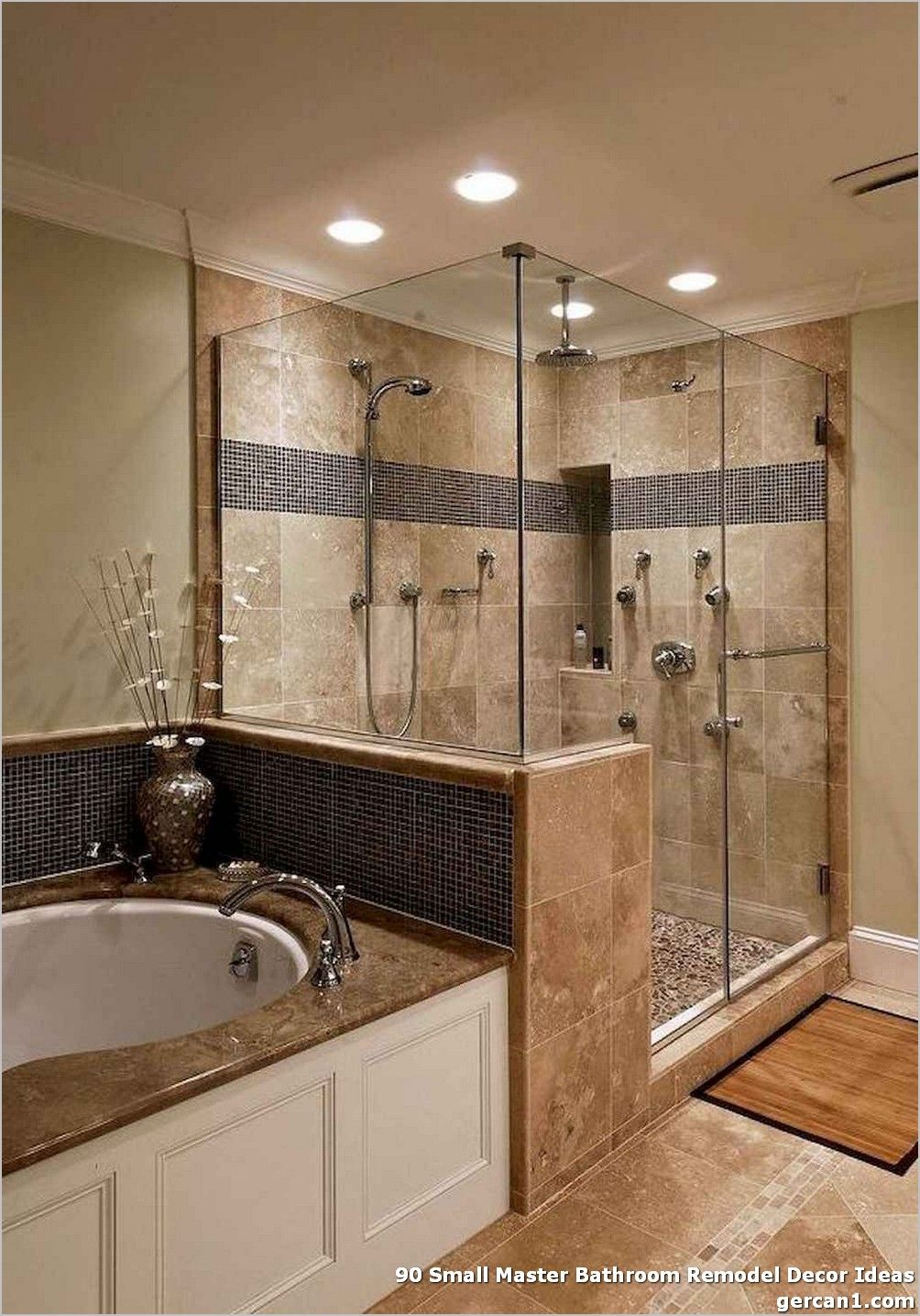 90 Small Master Bathroom Remodel Decor Ideas Small Rest Room