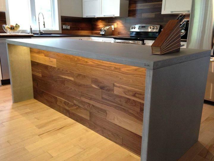 Comptoir de b ton conception de comptoir trois rivi re for Bar comptoir de cuisine