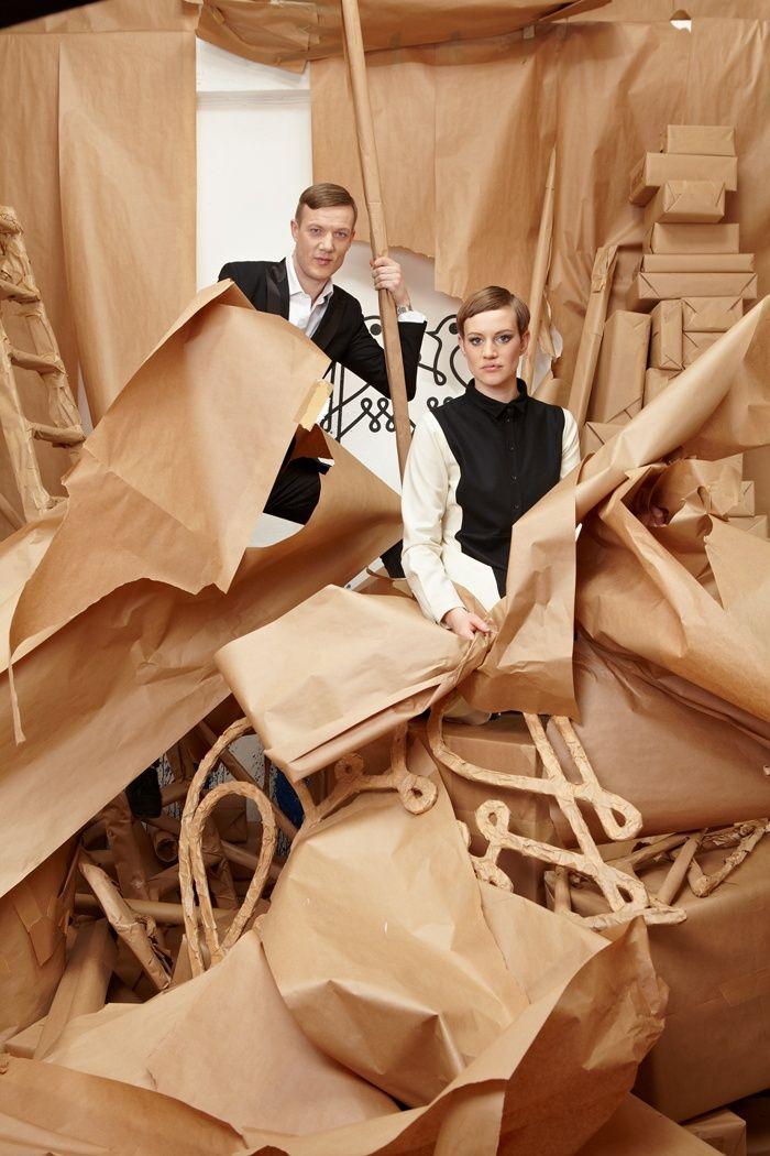 howitzweissbach is the fashion label of Eva Howitz and Frieder Weissbach from Leipzig, Germany.  FÜNF AUFRÄUMEN