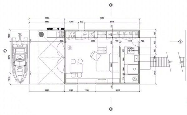 Tiny Floating Home In Prague Floor Plan