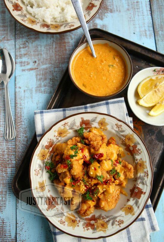 Resep Ayam Goreng Crispy Siram Saus Telur Asin Resep Ayam Resep Masakan Masakan