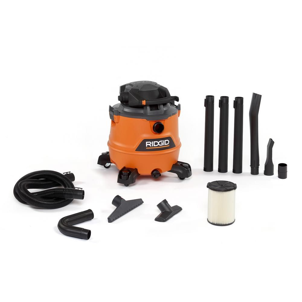 Ridgid 16 Gal 6 5 Peak Hp Nxt Wet Dry Shop Vacuum With Detachable Blower Filter Hose Accessories And Gutter Cleaning Kit Oranges Peaches Car Cleaning Kit Cleaning Kit Car Cleaning