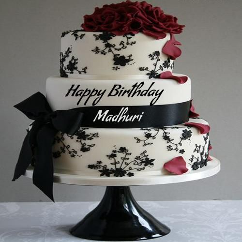 Write Name On Birthday Cake Pic Wrapped By Ribbon Happy Birthday Cake Images Happy Birthday Cake Writing Beautiful Birthday Cakes