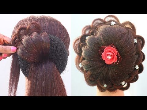 very easy and beautiful juda hairstyle || wedding hairstyle || hairstyle for short hair ...