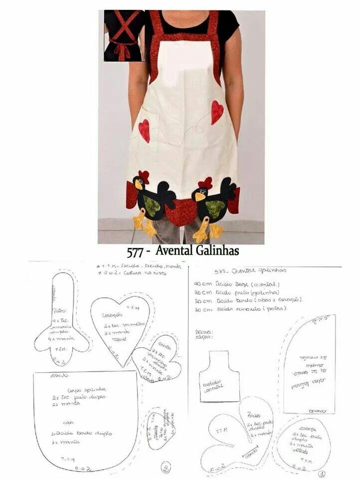 Delantal | Mutfak önlüğü | Pinterest | Kitchen fabric, Apron and ...