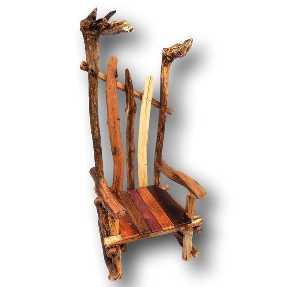 Attirant Driftwood Chair, Reclaimed Wood Chair, Rustic Chair, Rustic Furniture,  Reclaimed Wood Furniture