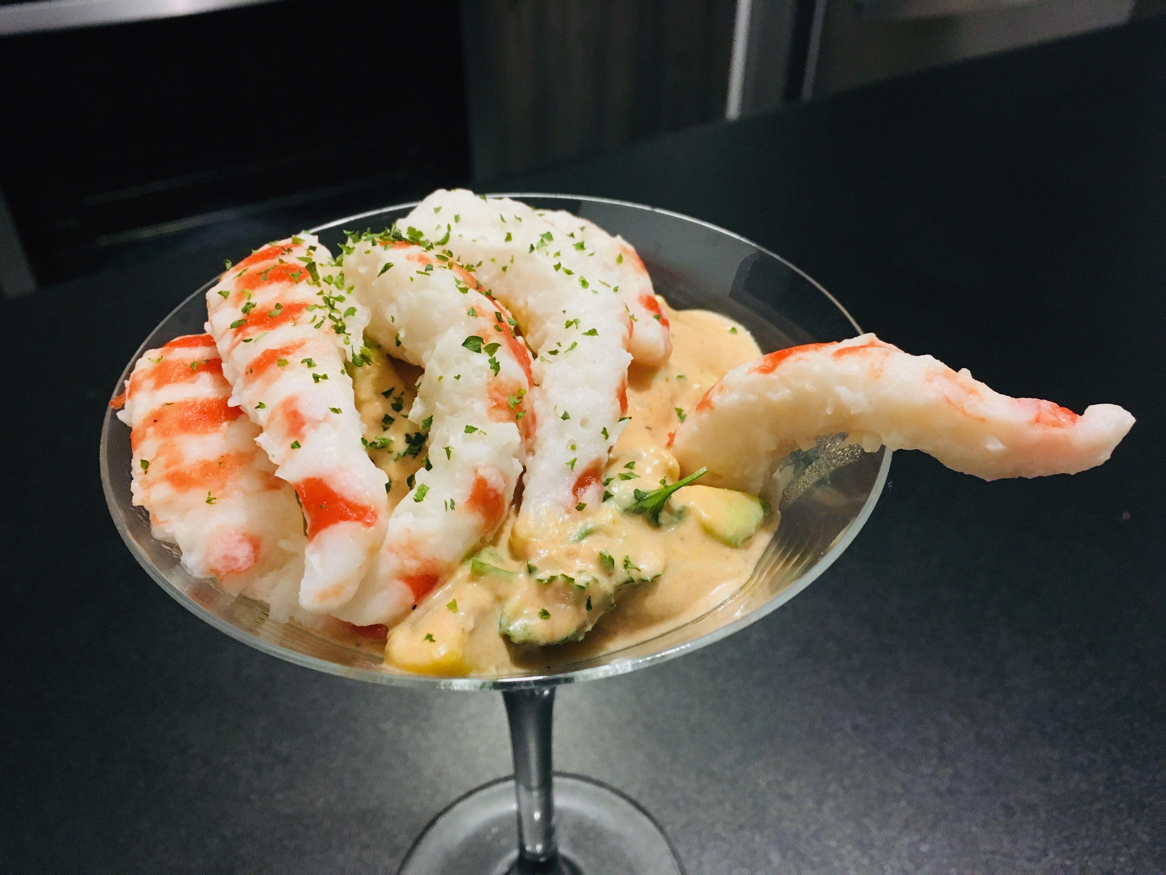 Avocado Cocktail With Vegan Shrimps Recipe Vegan Side Dishes Vegan Shrimp Avocado Cocktail