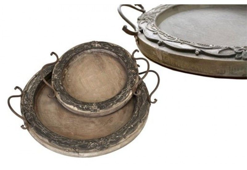 Serving Tray, Round Serving Trays, Carved Wooden Trays