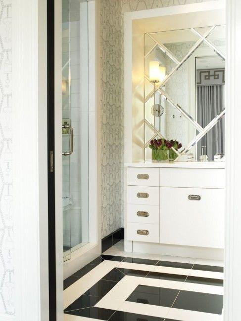 15 Unusual Bathroom Floor Ideas Shelterness Black And White Bathroom Floor Bathroom Design Luxury Bathroom Design