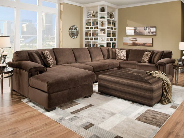 20 Of The Most Comfortable Oversized Ottoman Ideas Housely Brown Sectional Living Room Brown Living Room Decor Oversized Sectional Sofa