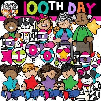 100th Day of School Clipart Bundle {100 Days of School ... (350 x 350 Pixel)