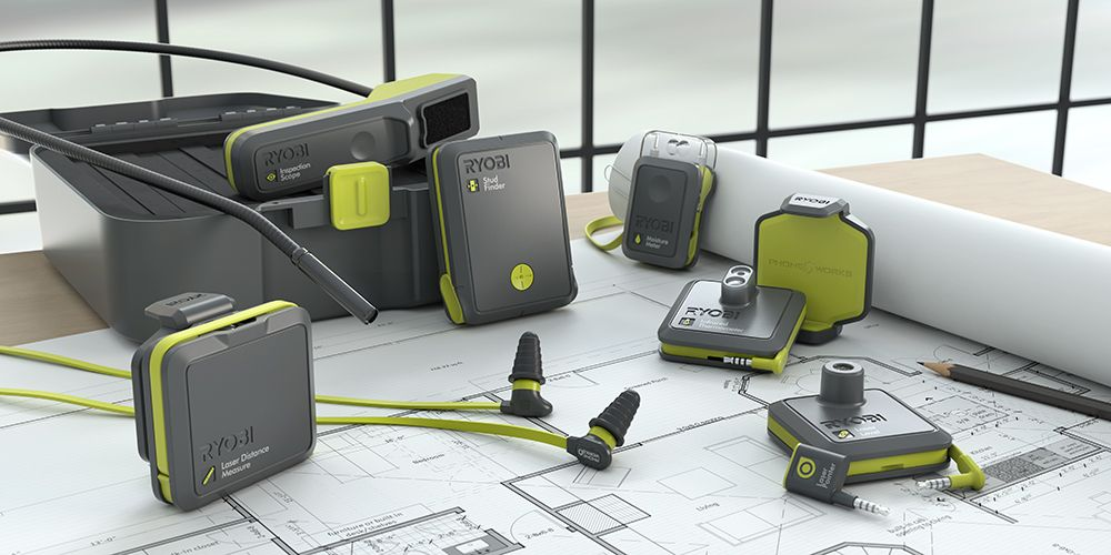 If Your Dad Loves Gadgets As Much As Tools Give Him Ryobi Phone Works For Fathersday This App Will Turn Dad S Phone Into Ryobi Measurement Tools Ryobi Tools