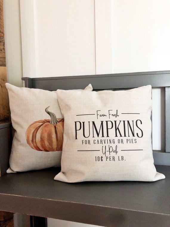 Farm Fresh Pumpkins Fall Pillow Cover Fall Decor Fall Pillow