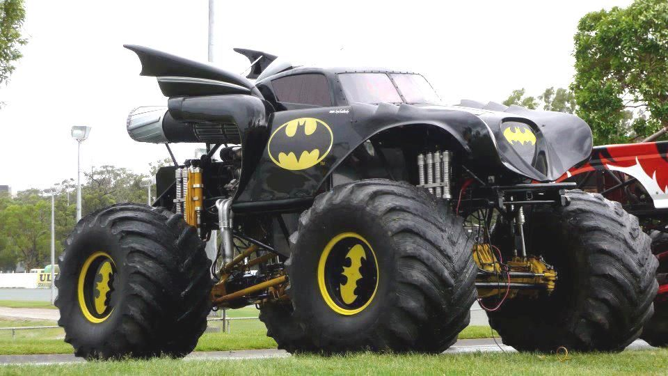 Turning Big Wheels Batman Monster Trucks Pinterest Big