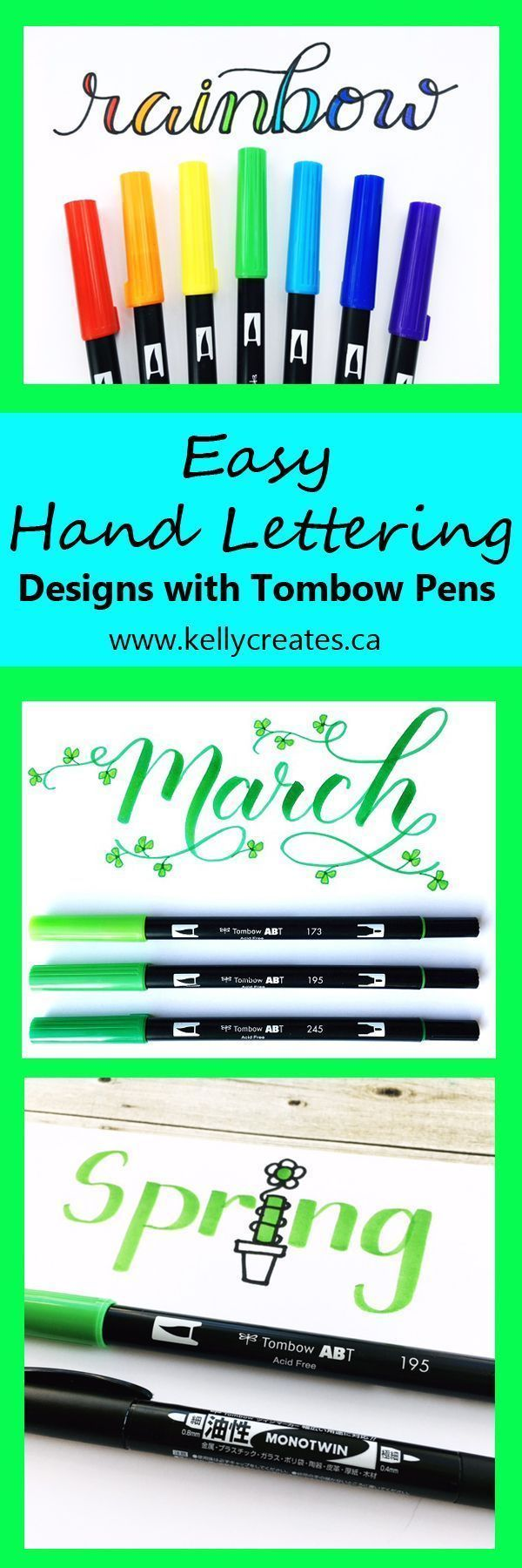 Hand Lettering With Tombow Pens Tombow Pens Lettering Hand Lettering
