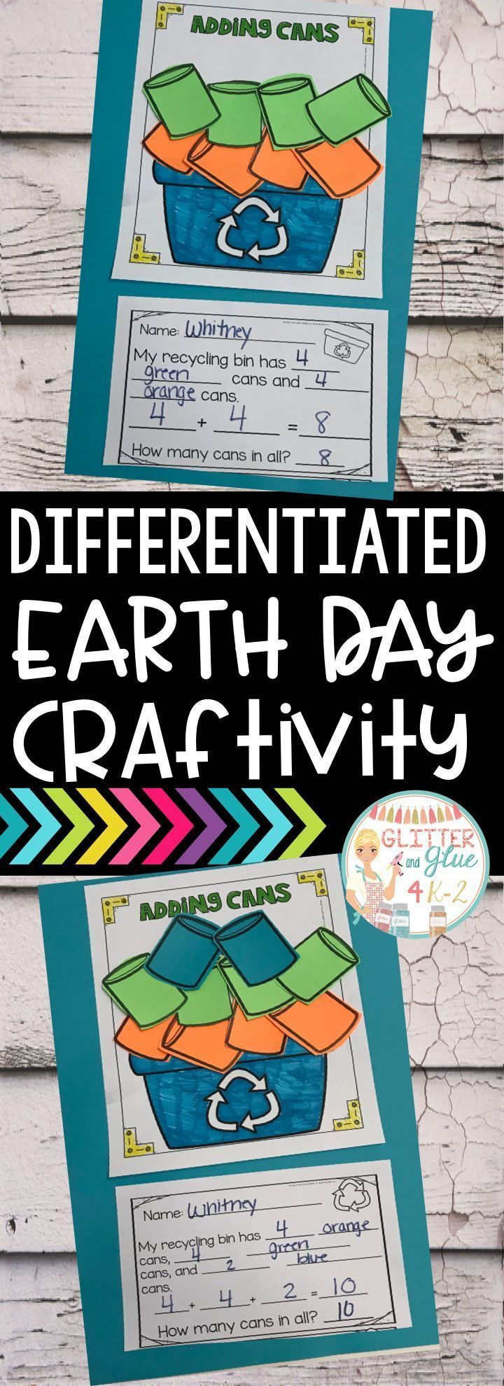 Use this fun Earth Day craftivity to reinforce counting, addition ...