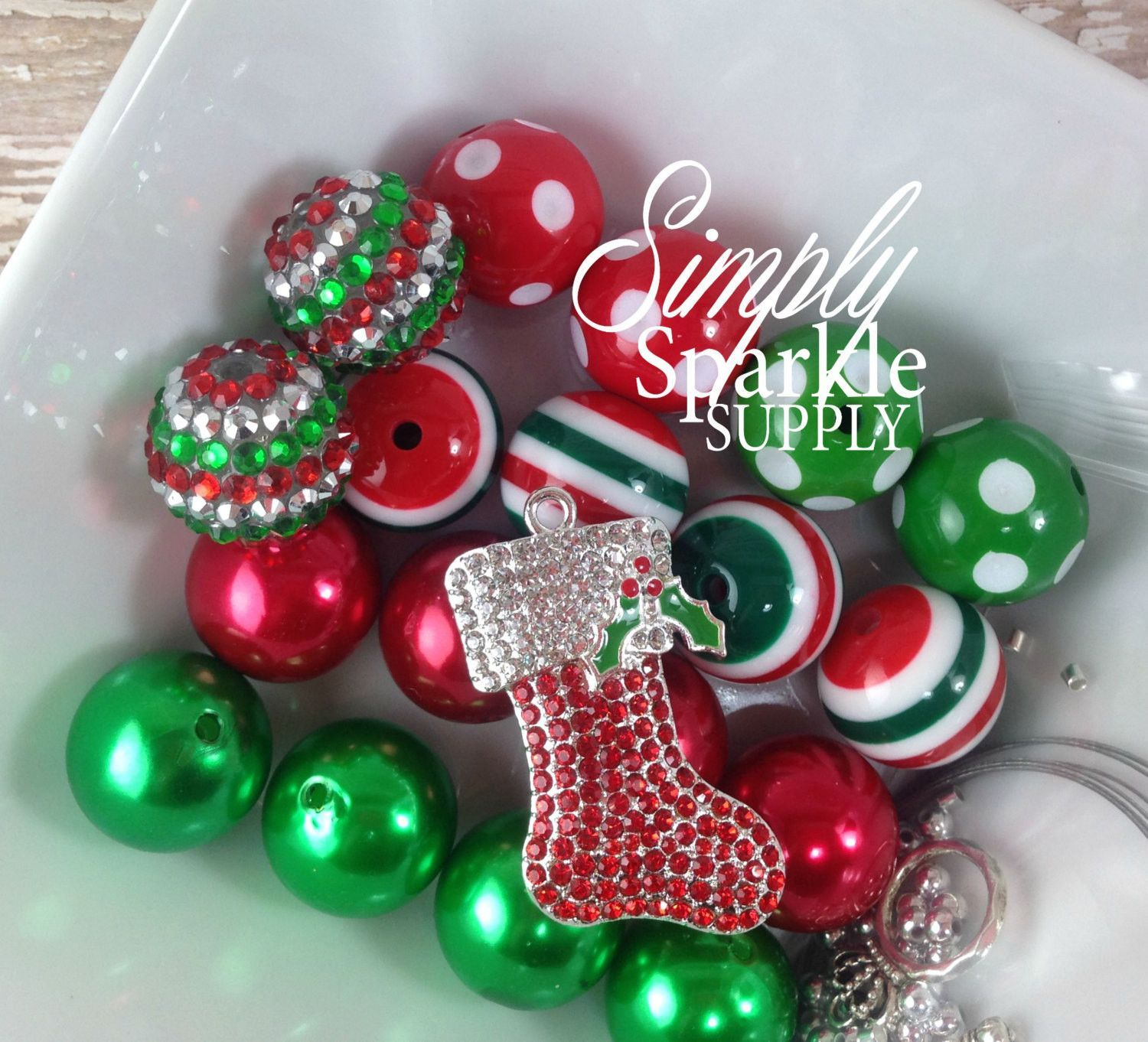 45mm christmas stocking diy chunky necklace starter kitl bubblegum 45mm christmas stocking diy chunky necklace starter kitl bubblegum necklace make it yourself kit solutioingenieria Images