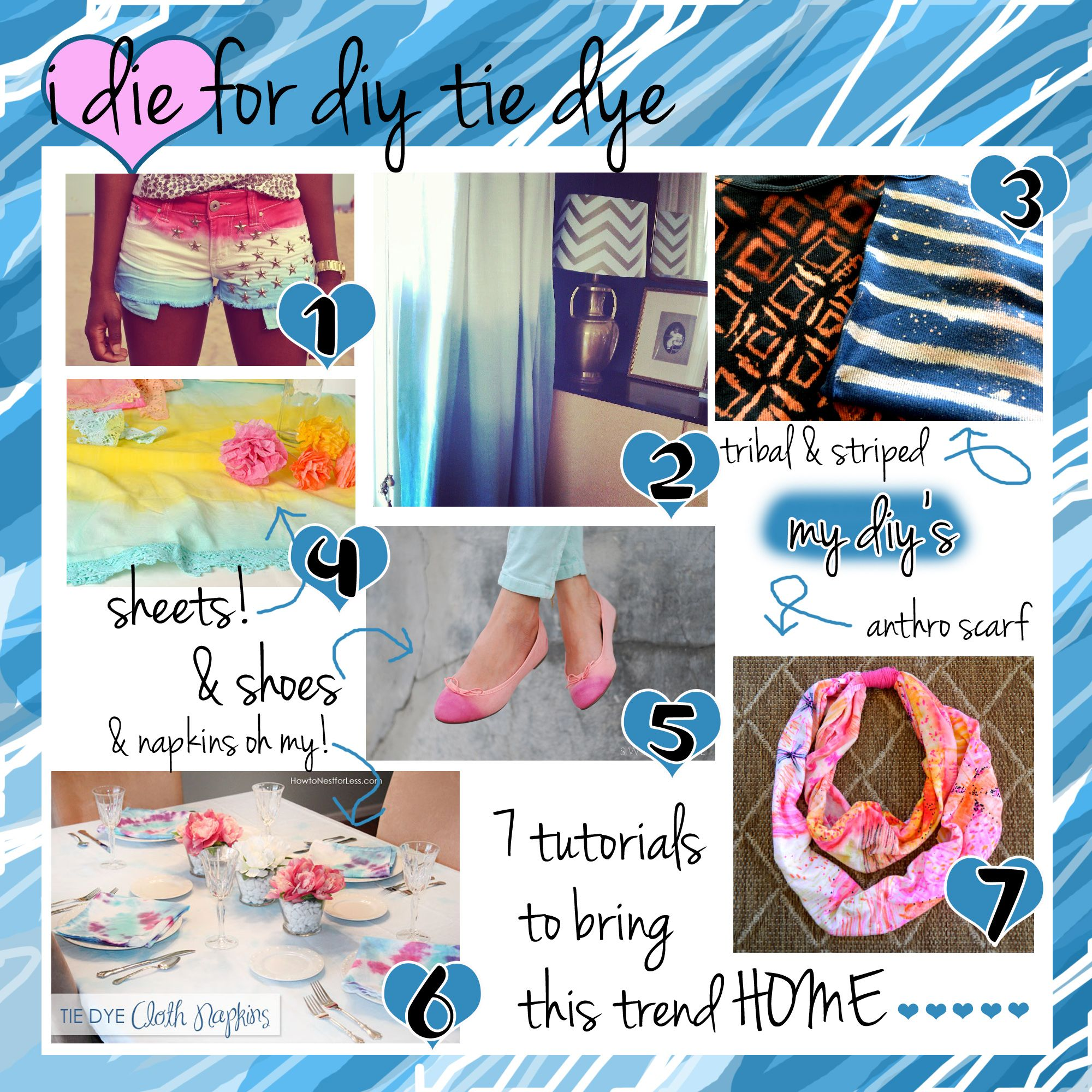 cfa879ea9fff Tie Dye Tutorial from HomeHeartCraft.com! Love this!! We want them ...