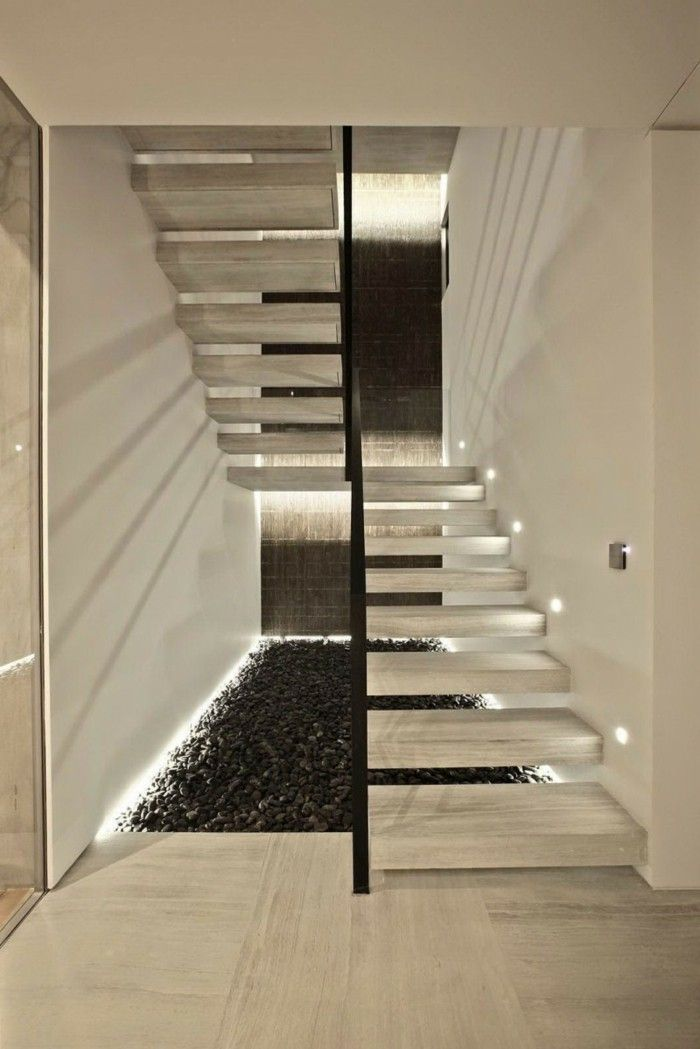 Lighting Basement Washroom Stairs: Stair-lighting-ideas-contemporary-staircase-lights