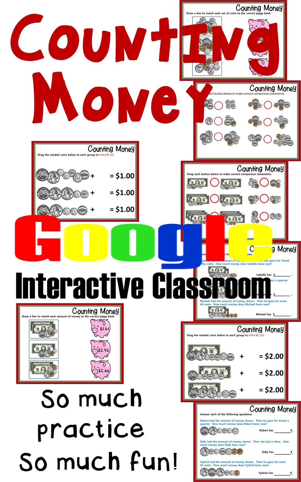 Your students will get so much practice counting coins and