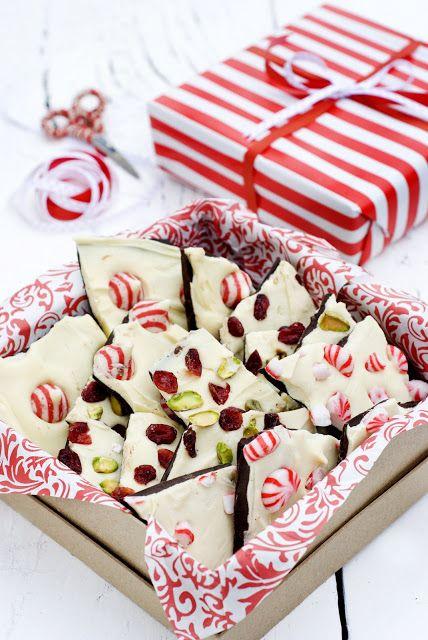 Christmas Bark - three ways Recipes Pinterest Christmas bark